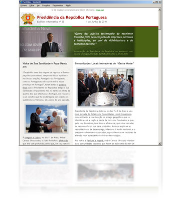 Newsletter Presidência