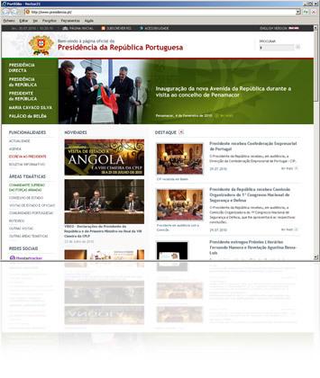Site oficial da Presidência da República